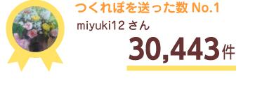 つくれぽを送った数No.1 miyuki12さん